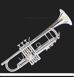 YZ-37S versilberte Musikinstrument Tropfen B einen integrierten Lautsprecher Anfänger Band Promotions Trompete mit freiem Verschiffen des Falles geschnitzt von Fabrikanten