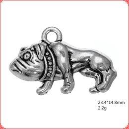 Античная старинные тибетский серебряный питбуль бульдог подвески металл подвеска сплава подвески для ожерелье браслет серьги diy изготовление ювелирных изделий от Поставщики ожерелье быков