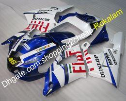 YZF1000 98 99 R1 Motocicletta per Yamaha YZFR1 1998 1999 YZF 1000 Motocicletta blu FIAT ABS Fairings (stampaggio a iniezione) da