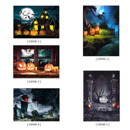 fondali di fotografia di zucca Sconti Halloween Party Foto Sfondi Sfondo Cosplay Zucca Orribile Schermo Fotografia Sfondo per Pasqua Ritratto Studio 2.1 X 1.5m