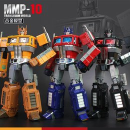 2019 brinquedo g1 32 cm Yx Mp10 Mpp10 Metal Transformação Modelo G1 Robô Liga de Brinquedo Mmp10 Comandante Diecast Coleção Action Figure Para Crianças Presente Y19062901 brinquedo g1 barato