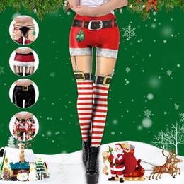 Calças da ioga do natal on-line-Calças Mulher Impresso 3D Leggings animados do Natal apertado Skinny Elastic Leggings fitness Sexy Xmas Esportes Yoga Pants Calças LJJA3282-13
