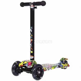 Новый трехколесный велосипед детский самокат с регулируемой высотой LED мигающий 3 PU колесо Дети дети скейтборд supplier tricycle wheels от Поставщики трехколесные колеса