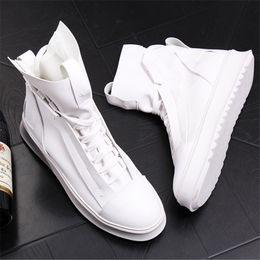 Canada Bottes D'été Respirantes Hommes Haut Haut Décontracté Tendance Chaussures de Loisir Hip Hop Zapatos Blanc 20D50 cheap shoe hop high Offre