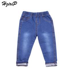2020 jeans de cintura alta para niños HziriP 2017 la nueva manera de Niños Jeans Niños Niñas suave bolsillos denim de alta calidad elástico de la cintura de los niños Ropa y ajuste 1-6Y rebajas jeans de cintura alta para niños