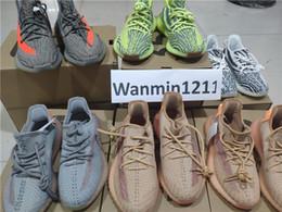 jaunes Promotion Adidas Air Yeezy 350 Kanye West V2 2.0 shoes Static Réfléchissant Hommes femmes Date De Beurre Semi Gelé Jaune Bleu Teinte Crème Blanc Hommes Femmes Chaussures De Course