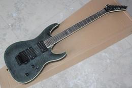 mejor guitarra hueca Rebajas Recogida de envío libre de la guitarra eléctrica del LTD Deluxe Carbono Negro con trémolo de Floyd Rose en stock