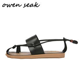 2019 женская обувь Owen Seak Мужчины Римские Сандалии Натуральная Кожа Гладиаторские Сандалии Высокие Верхние Пряжки Тапочки Слайды Летняя Мужская Обувь дешево женская обувь