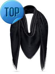 Pashmina satin schals online-2019 2019 L Schal Kaschmir-Schals aus Kaschmir umwickelt Seide Wolle Schals Quadrat Design 140 * 140 Mode Pashmina Mit Etikett und Offizi
