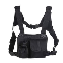 Coffre tactique en Ligne-Unisexe Tactical Sac D'épaule Poitrine Rig Sac Hip Hop Streetwear Hommes Fonctionnel Taille Packs Pochettes Réglables Gilet West 2019