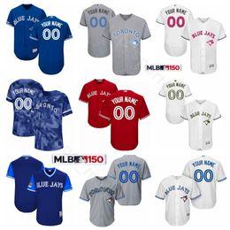 2019 rote blaue jays jersey Toronto Baseball Blue Jays 19 Trikot von Jose Bautista 12 Roberto Alomar 32 Roy Halladay 29 Joe Carter 21 Roger Clemens Blau Rot Grau günstig rote blaue jays jersey