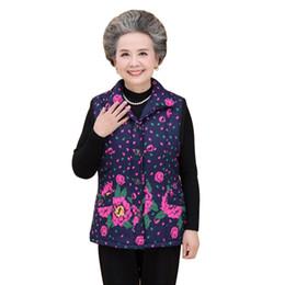 Canada Veste rétro plus velours épais gilet de grand-mère manteau d'hiver coton vieux XL-5XL shirt femmes supplier women 5xl winter vest Offre
