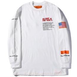 Argentina Camiseta de manga larga para hombre streetwear camiseta Heron Preston Sudadera con capucha de la NASA EE. UU. Bandera pareja sudaderas con capucha hombres manga larga casual sudaderas cheap usa flag sweatshirts Suministro