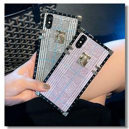 Anwendbares iPhonexr großer Name britischer Wind-Handykasten iPhonexs Gezeitenmarke Retro- kariertes Handyoberteilquadrat von Fabrikanten