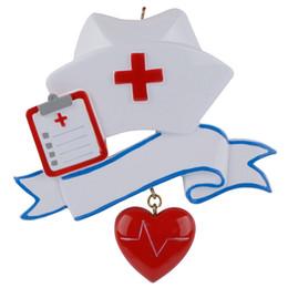 Maxora Nurse Personalizada Polyresin Mano Pintura Adorno de Ocupación del Árbol de Navidad Como para Día de Fiesta de la Enfermera Regalos desde fabricantes