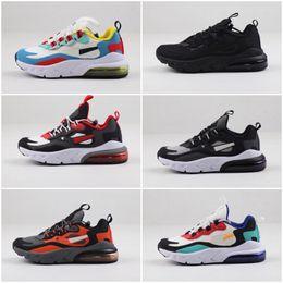 2019 chaussures de basket kobe haute Nike air max 270 2019 enfants Chaussures enfants Chaussures de basket-loup gris pour enfant en bas âge Baskets Garçon Fille Toddler Chaussures Pour Enfant