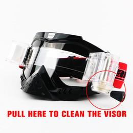 Óculos de marca Dirt Bike ATV Cross Riding Ski Motocross Óculos Motor para Motocicleta UV Ski Snowboard Goggles Lens Lens Clear de