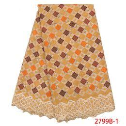 disegni africani di stili di pizzo Sconti Embroideryylace Designs Tessuto di pizzo africano all'ingrosso Merletto svizzero del voile Stili di pizzo da sposa nigeriano QF2799B-1