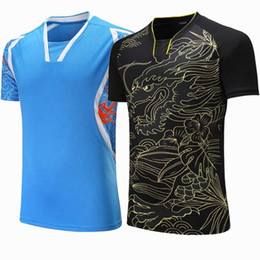 Sportswear Quick Dry atmungsaktives Badminton-Shirt, Frauen / Männer Tischtennis Drachen Print Teamspiel Lauftraining Sport T Shirts von Fabrikanten