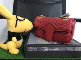 Мода женщины сумка классический искусственная кожа Мармонт в форме сердца золотая цепь дамы красная сумка на ремне сумка от