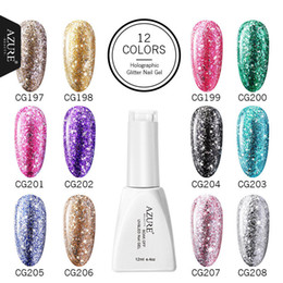 2019 uñas de platino Azure Beauty New Platinum Gold Gel de uñas Super Shine Glitter Diamond Platinum Manicure Soak Off UV Gel Laca polaca Barnices rebajas uñas de platino