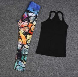 2019 pantalón estampado digital Traje de yoga Ropa de bebé Niños de diseño Chicas Pantalones de yoga Pantalones Chaleco Impresión digital para la práctica de baile Cómodo verano Todas las estaciones 43