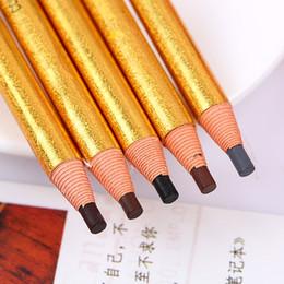 Canada 5 Couleurs Longue Durée Crayon À Sourcils Étanche Eye Brow Pen Dark / Light Café Noir Gris Rouge-Brun Outil De Maquillage F2395 cheap eye pencil colors Offre