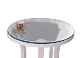 pano de mesa de natal roxo Desconto YO HOOM Cozinha PVC Toalha De Mesa À Prova D 'Água Transparente Rodada Thickn1.0 MM Toalha De Mesa De Mesa Tampa de Óleo De Vidro Macio