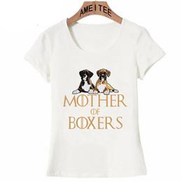 t-shirts imprimés pour filles Promotion Drôle Conception Mère De Boxers Chien T-shirt Nouvel Été Femmes T-shirt Belle Chien Imprimer Tops T-shirt Jolie fille Camisetas À Manches Courtes