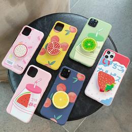 2019 cajas de teléfono de frutas Caja del teléfono de la fruta con estallidos enchufes para iPhone 11 Pro Max 6 7 8 6S X XR XS MAX Samsung Galaxy S10 Plus