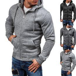 90da8ba46351 plain solid hoodies Coupons - New Plain Mens Hoodie Fleece Zip Up Hoody  Jacket Sweatshirt Hooded