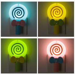 luzes da noite em forma de animais Desconto Lollipop Forma Inteligente Light Control Night Light EUA Regulamento 100-240V