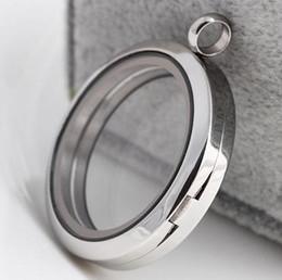 2019 eisen metall preise 20/25/30 / 35mm magnetischer Edelstahl Schwimm Medaillon Runde Form Glas Größe Slip Charm Schmuck Halskette Anhänger