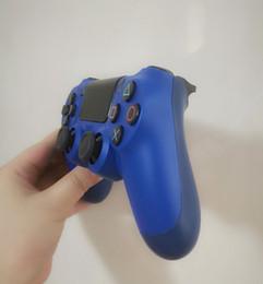 Controlador de juego de buques online-Venta al por mayor SHOCK 4 controlador inalámbrico de calidad superior Gamepad para PS4 Joystick Game Controller envío libre de DHL