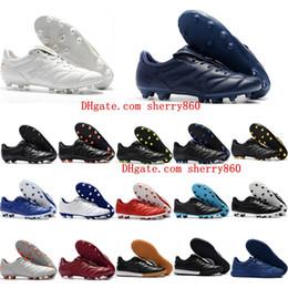 Botas ii online-2018 baratas de fútbol para hombre baratas Retro Tiempo Premier II TF IC botas de fútbol Tiempo Legendario 2.0 FG AG zapatos de fútbol Caliente