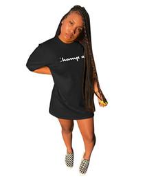 2019 Lettere di marca C Stampa Abiti da donna Abito a maniche corte Camicia girocollo Estate Abito da donna Abiti da festa Clubwear di alta qualità da abito di maternità maxi merletto nero fornitori