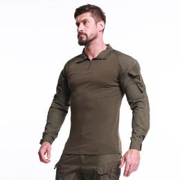 camuflagem camisa de manga comprida uniforme Desconto Camisa do Exército DOS EUA Tático Camuflagem Uniforme Camisas de Combate-Provado Camisas de Manga Longa Batalha Greve Exército T-Shirt Dos Homens