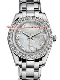 Рамка женщина часы онлайн-12 Стиль Топ Продаж Высокого Качества 31 мм 36 мм Pearlmaster Datejust 81299 Бриллиантовая Рамка Азии Механические Автоматические Женские Часы женские Часы