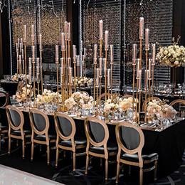 8 голов / 12 голов) 8 голов золотого металл высоких свадебные канделябры центральной Продажа senyu0352 от