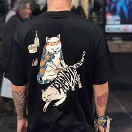 katzenhemden mann Rabatt Ripndip Männer Marke T-Shirt Art und Weise Mensentwerfer T-Shirts Sommer individueller Schweiß absorbierende Luxus-T kurzärmeliges Paar Katzenlogo T-Shirts