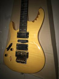Floyd rose personnalisé floyd rose Yellow Flame Top HSH Pickups Guitare électrique 6 cordes Guitares ? partir de fabricateur