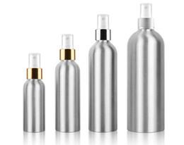 aluminium-flaschenpakete Rabatt 10 stücke 30 ml / 50 ml / 100 ml / 150 ml / 250 ml / 500 ml Aluminium Spray Zerstäuber Flasche Nachfüllbar Leere Flaschen Zerstäuber Verpackung Werkzeug