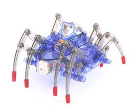 Giocattolo di ragno diy online-Giocattoli robot ragno Fai da te Assemblare Intelligente giocattolo robot elettrico Giocattoli educativi per bambini Kit fai da te Assemblaggio Costruzione Puzzle Giocattoli Regalo L