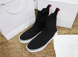 Вязаные средние кроссовки дизайнерские носки кроссовки середины верха жаккардовые марки высокого качества кроссовки для женщин размер 35-41 NO.1S от