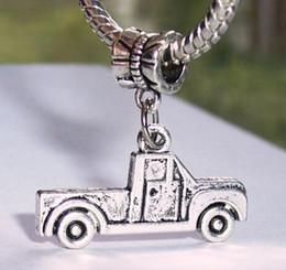 2019 camion di fascino 2019 vendita calda argento antico pickup truck vestito pendente di fascino collana accessori braccialetto donne uomini gioielli all'ingrosso regalo unico b858 sconti camion di fascino