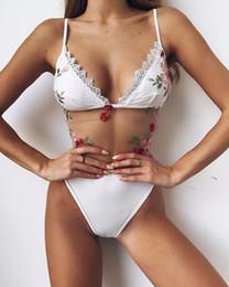 maiôs de malha branca Desconto Bikini Medusa Swimwear para Mulheres Maiô Beachwear Verão one piece Sexy Senhora Swimsuit Malha Biquíni Floral Branco