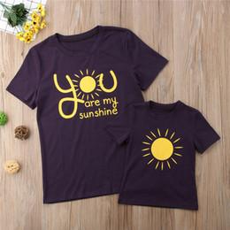 camisas da harmonização da mamã do bebê Desconto Mãe e eu Mesma roupa mãe Criança sol Matching shirts camiseta Blusa Tops Familiares Roupas Roupas