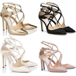 mädchen büro top Rabatt jimmy choo shoes  Designer High Heels LANCER Fashion Luxus 8 10 12 CM Kleid Büro Party Hochzeit Kristall Schuhe Größe 36-42