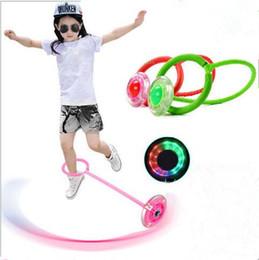 ballon de saut d'enfants Promotion Enfants Jouets LED Flash Jumping Anneau Ballon Dansant Glowing Fitness Jouets Éducatifs Drôle Jeu Creative Kids Sports de Plein Air Jouets TL105