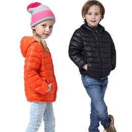 korean kids clothes down Coupons - Baby Girl Clothes Kids Winter Jacket 2019 Hooded Black Down Cotton Coat Boys Casual Korean Thin Outerwear 3-9 Years Spring Coats